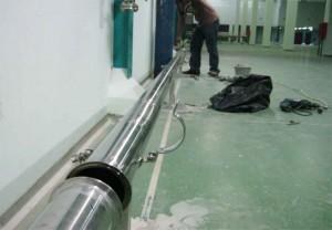 Instalasi Drain Stainless Steel dari Mesin